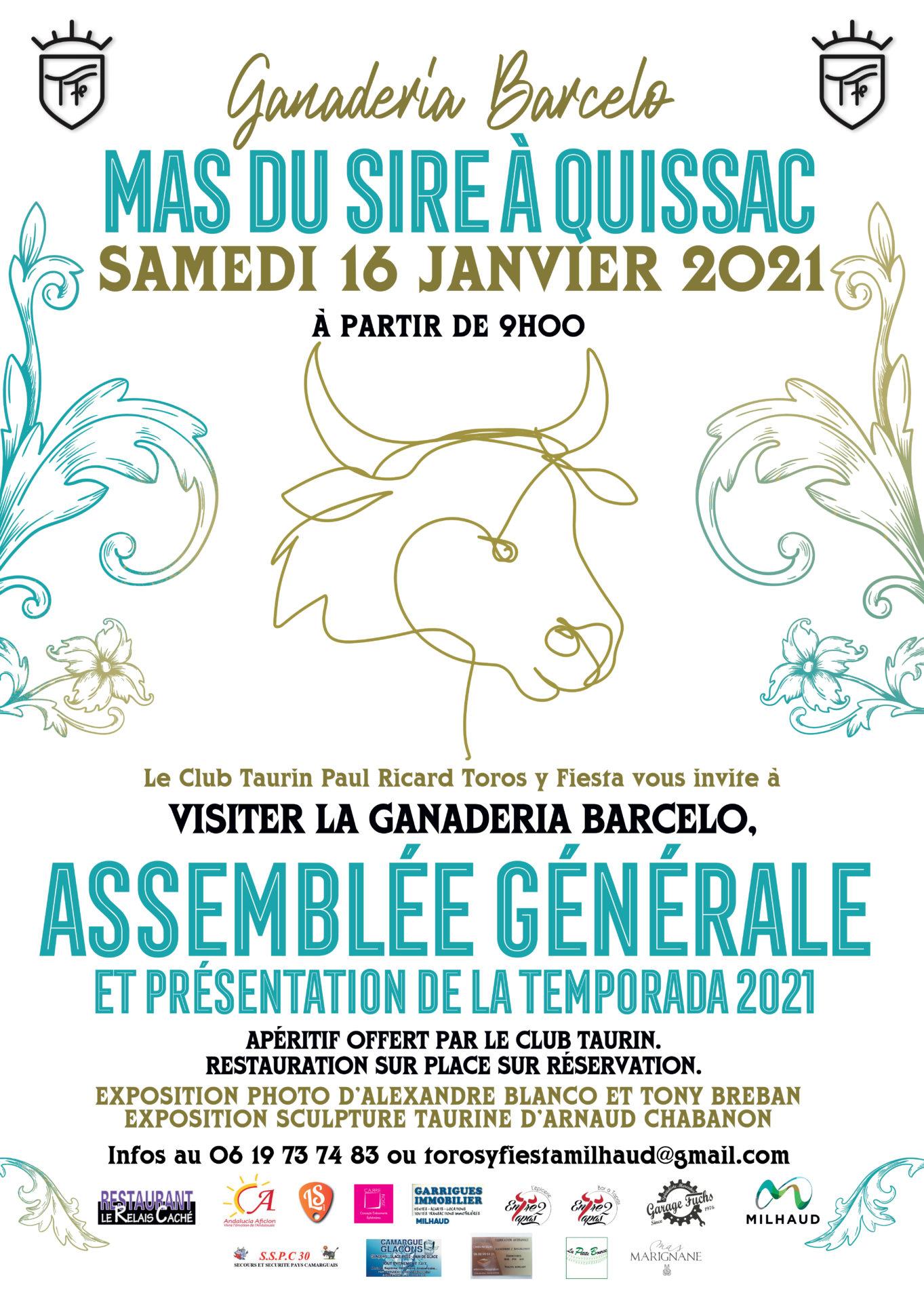 Assemblée Générale et Visite du Campo pour le Club Taurin Toros y Fiesta de Milhaud…