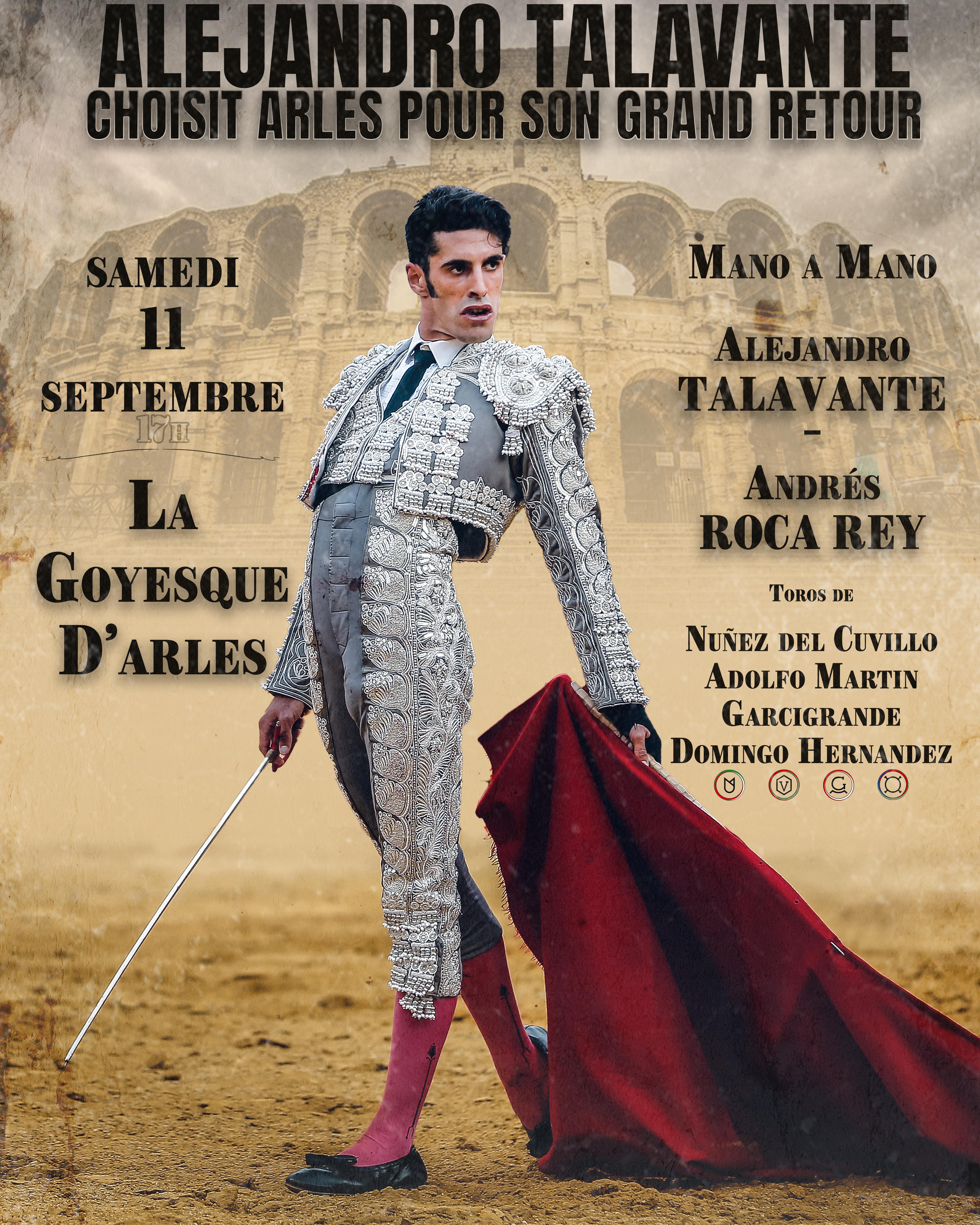 ALEJANDRO TALAVANTE a choisit Arles pour son grand retour !