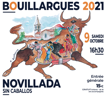 BOUILLARGUES – Cartel officiel de la novillada sin caballos …